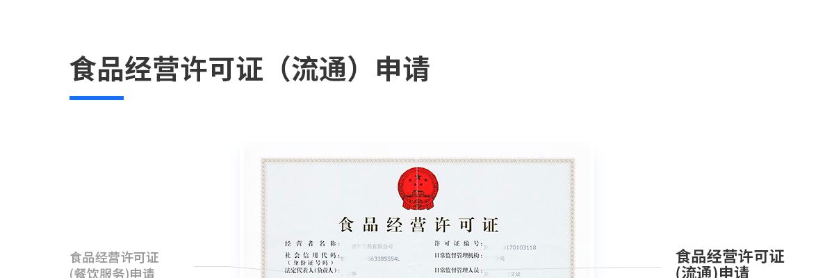 食品经营许可证(流通)申请(预包装食品,零售)93558222776688800